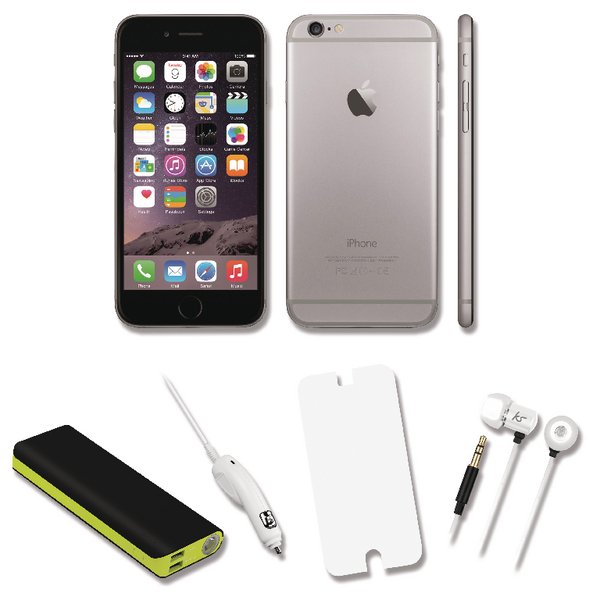 Apple iPhone 6 Certified Pre Owned Bundle Deal with 12000mah Power Bank