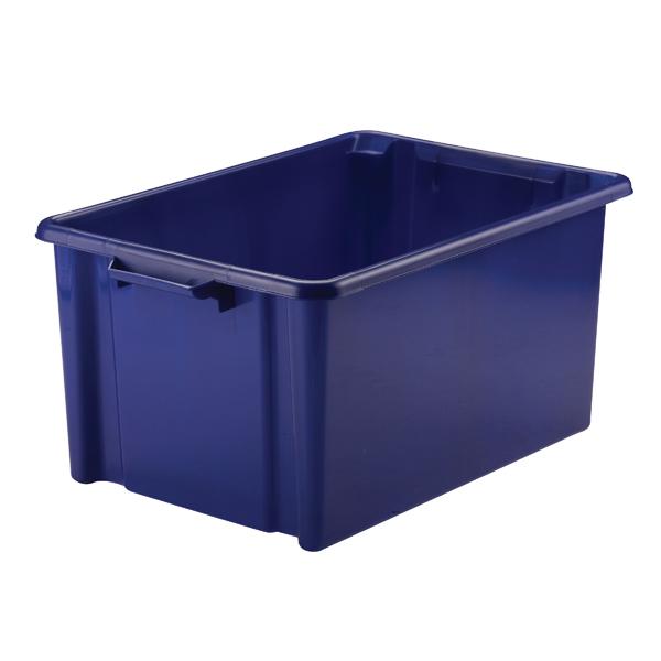 Strata Storemaster Jumbo Crate 48.5L Blue HW048-Blue