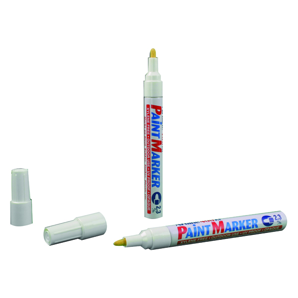 Artline 400 Medium White Bullet Tip Paint Marker (Pack of 12) A400