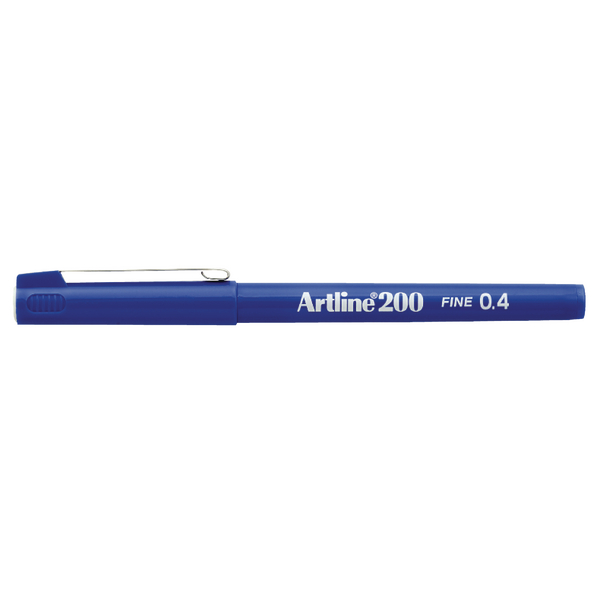 Artline 200 Blue Fineliner Pen (Pack of 12) A2003