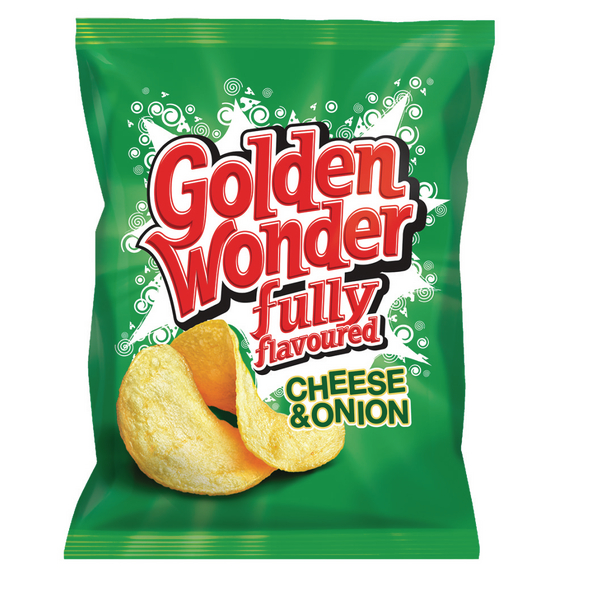 Golden Wonder Cheese and Onion Crisps (Pack of 32) 121298