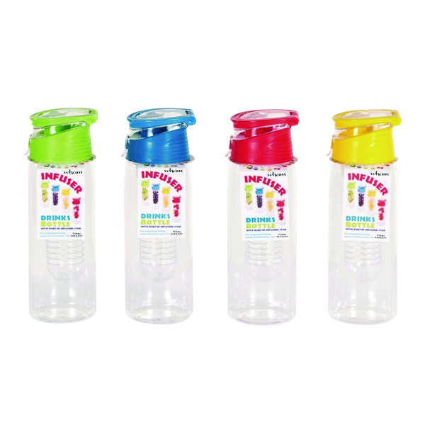 Infuser Water Bottle 750ml Assorted (Pack of 12) 20097