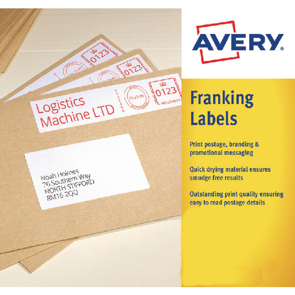 Image for Avery 157x39mm White Franking Label FL07