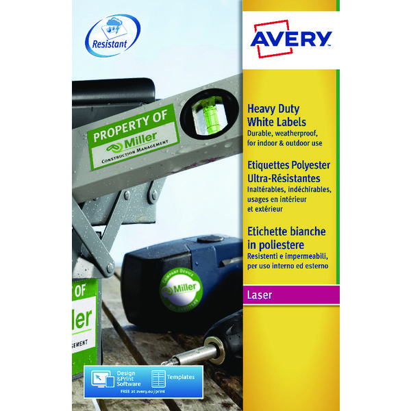 Avery Heavy Duty 99x38mm Laser Labels (Pack of 280) L7063-20