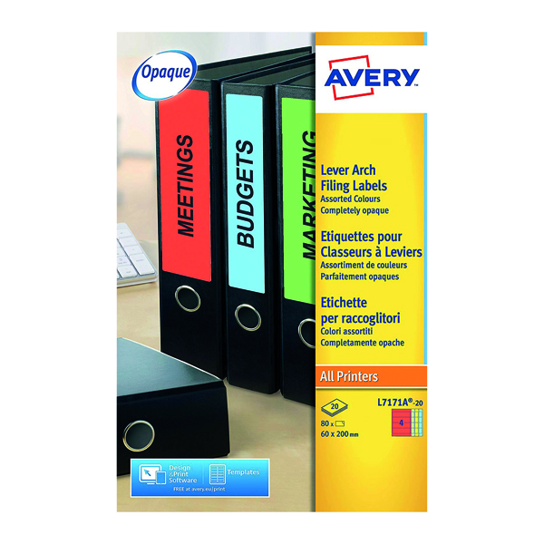 Avery Removable Labels 96 x 16,9mm 25