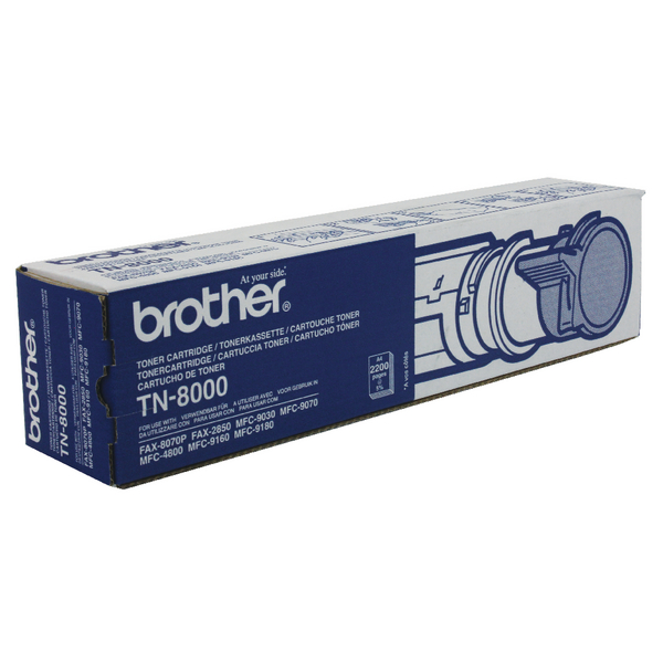 Brother Fax 8070P Laser Black Toner Cartridge TN8000