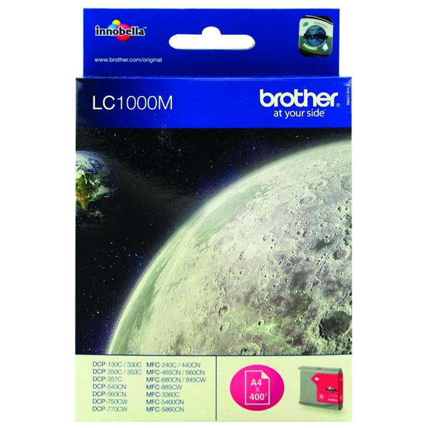 Brother LC1000M Magenta Inkjet Cartridge
