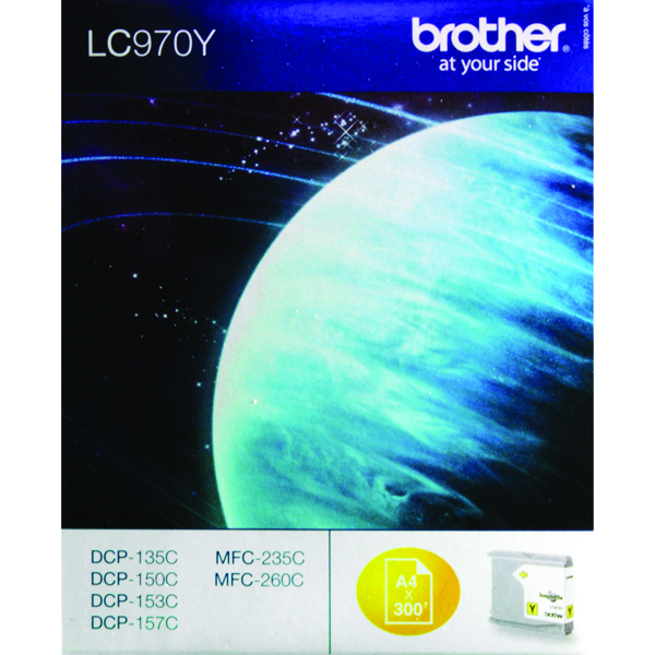 Brother LC-970Y Yellow Inkjet Cartridge