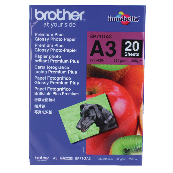 Brother Premium Plus A3 Photo Paper Pk20