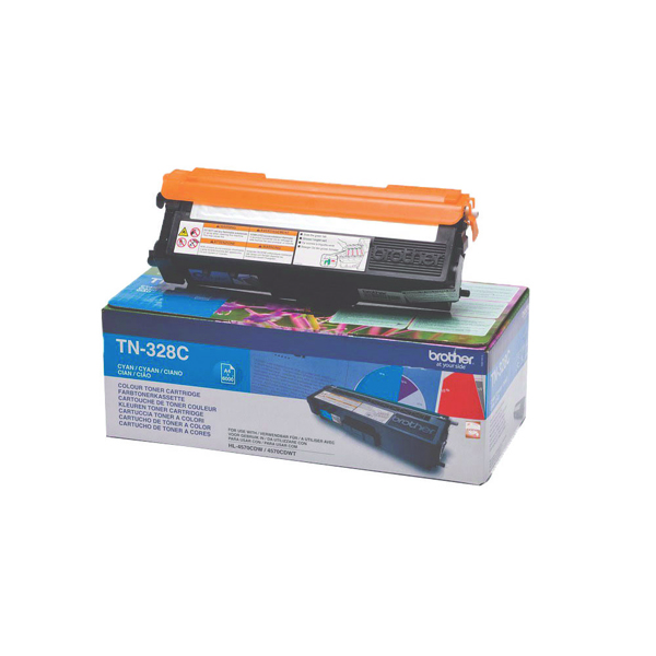 Brother TN328C Cyan Super High Yield Laser Toner TN-328C