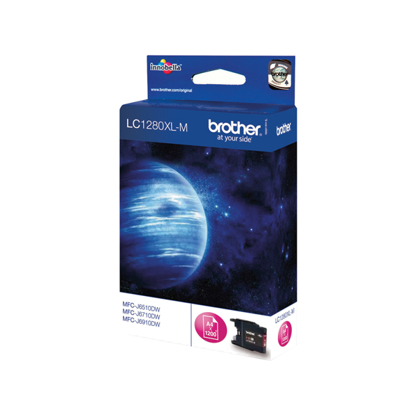 Brother High Yield Magenta Inkjet Cartridge LC1280XLM For Use On The MFC-J5910DW, 6510, 6710, 6910 etc.