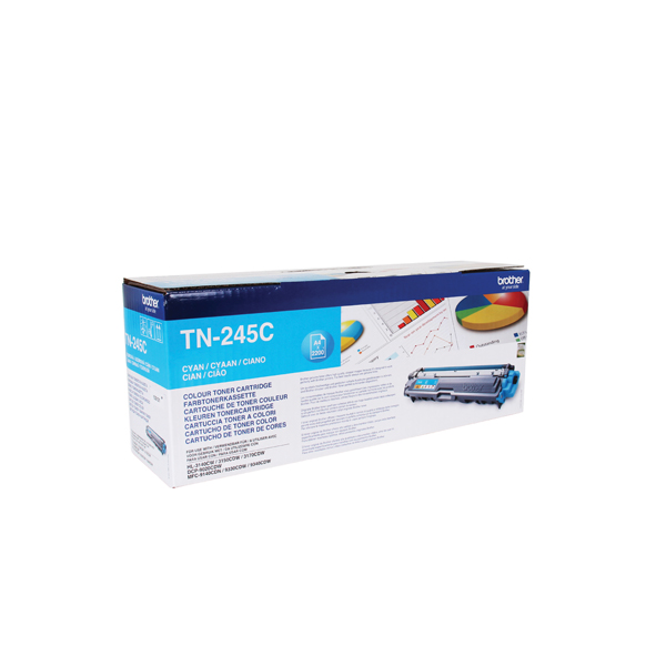 Brother TN-245C Cyan Toner Cartridge High Capacity TN245C