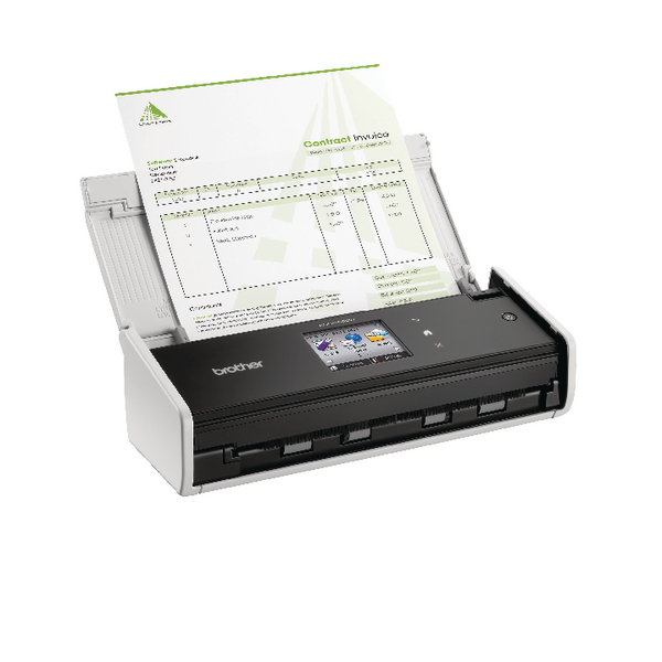 Image for Brother ADS-1600W Compact Document Scanner Wireless White ADS1600WZU1