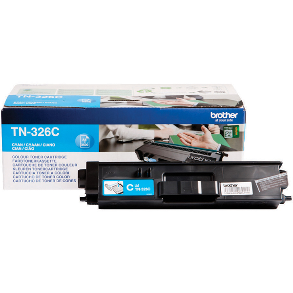 Brother TN326C Cyan Toner Cartridge High Capacity TN-326C