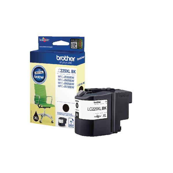 Brother LC229XLBK High Yield Black Inkjet Cartridge LC-229XLBK