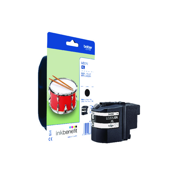 Brother LC22UBK Black Ink Cartridge LC22UBK