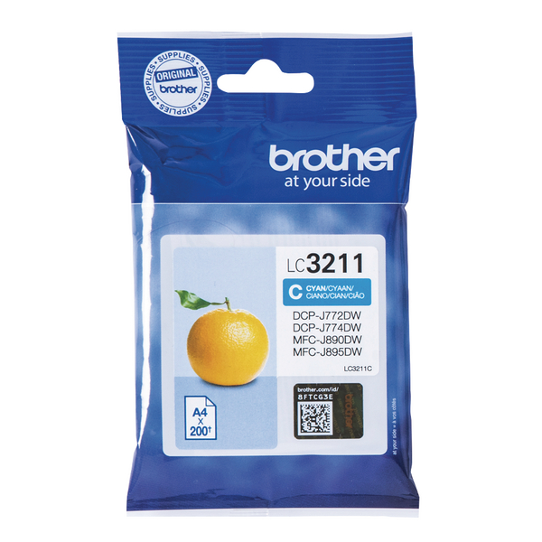 Brother Ink Cartridge Cyan LC3211C