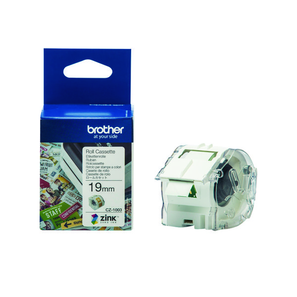 Brother Label Roll 19mm x 5m (For the Brother VC-500W Label Printer) CZ1003