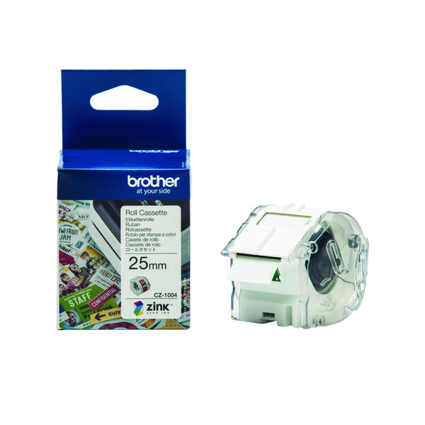 Brother Label Roll 25mm x 5m (For the Brother VC-500W Label Printer) CZ1004