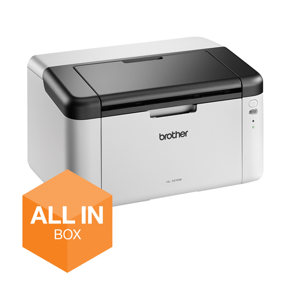 Brother HL-1210W All-in-Box Compact Mono Laser Printer HL1210WVBZU1