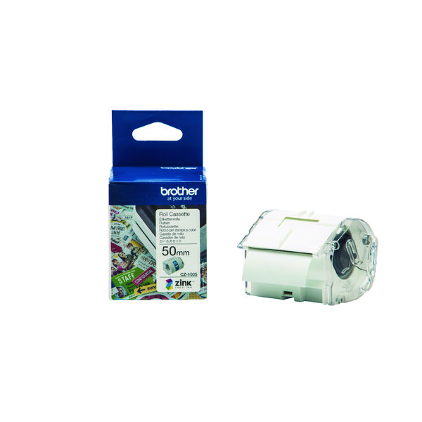 Brother Label Roll 50mm x 5m (For the Brother VC-500W Label Printer) CZ1005