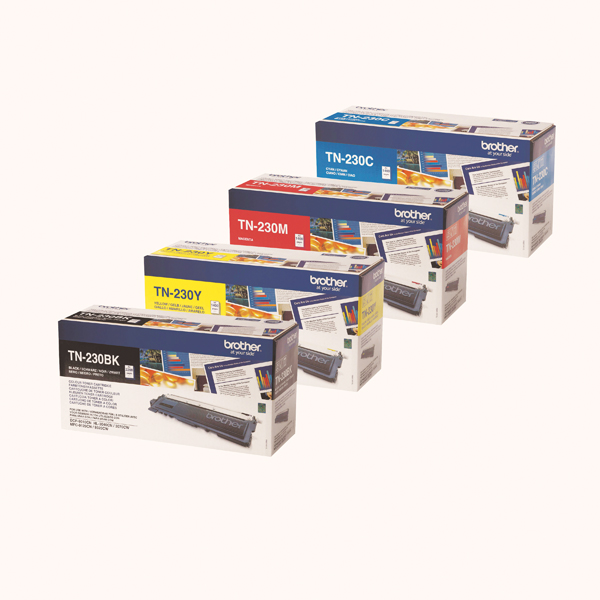 Brother TN230 Toner Cartridge Bundle Cyan/Magenta/Yellow/Black (Pack of 4)