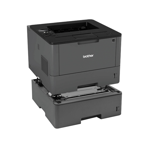 Brother Laser Printer HL-L5100DN with a Brother LT6500 520 Paper Tray