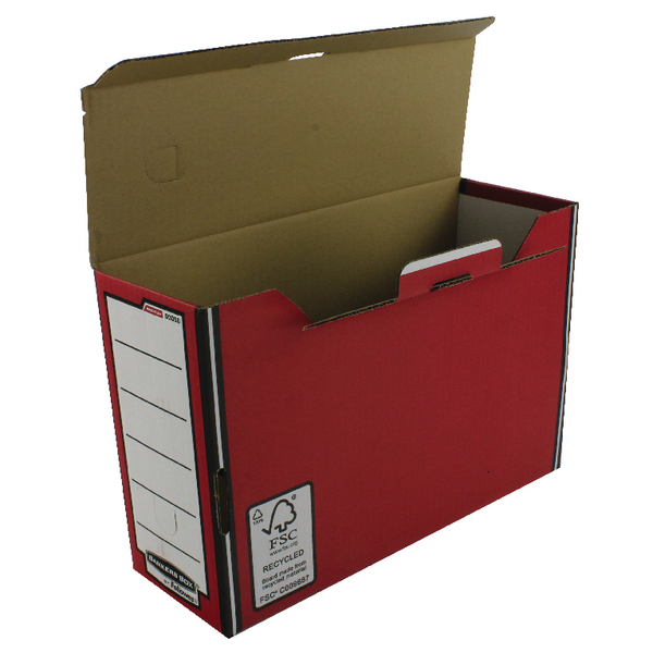 Fellowes Bankers Box Premium Transfer File Red/White 00058-FF