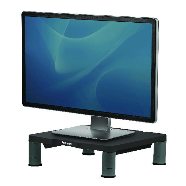 Fellowes Standard Monitor Riser Graphite (3 height adjustments, 27kg maximum capacity) 9169301