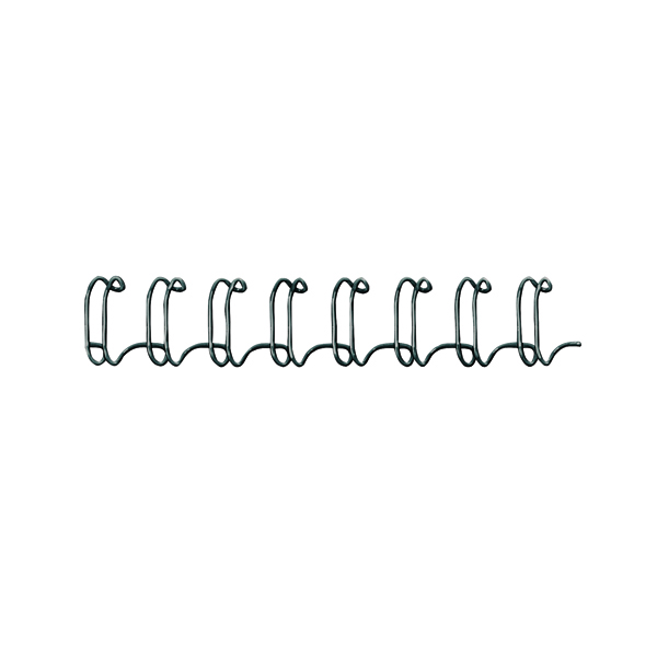 Fellowes 6mm Black Wire Binding Element (Pack of 100) 53218