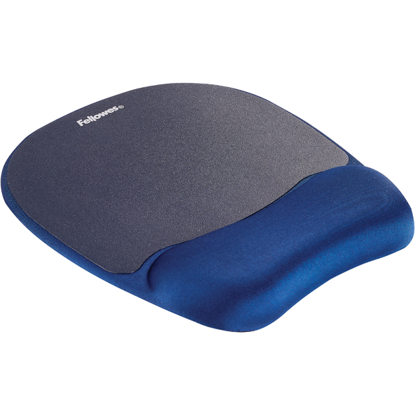 Fellowes Memory Foam Mouse Pad Wrist Support Sapphire Blue 9172801
