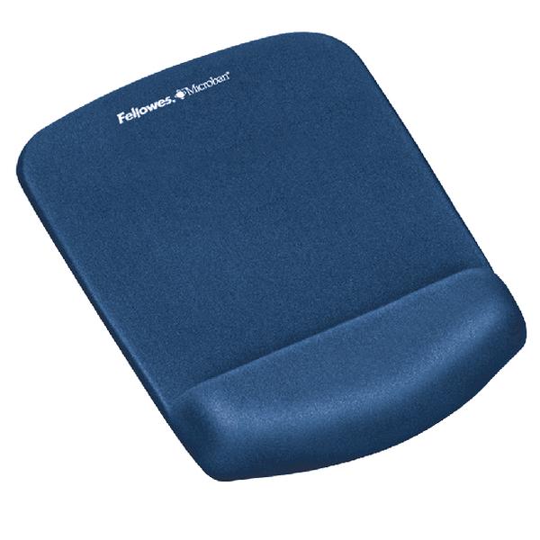 Fellowes Plushtouch Mousepad Wrist Support Blue 9287302