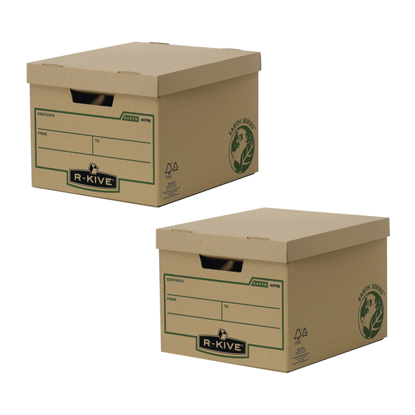 16a1867ba5e Image for Bankers Box Brown R-Kive Earth Storage Box (2 Packs of 10