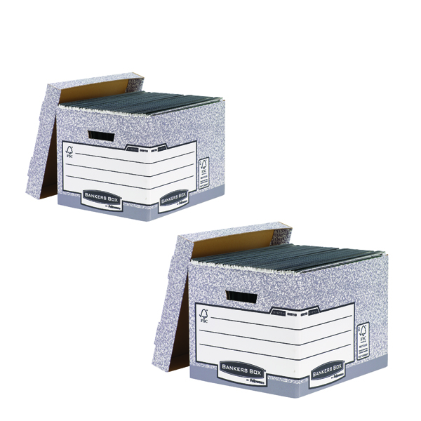 Bankers Standard Storage Box Grey (2 Packs of 10) BB810537