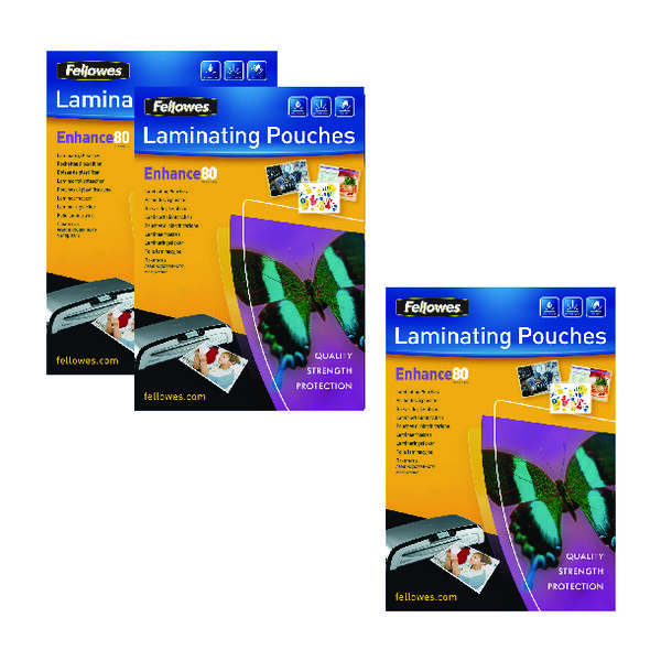 Fellowes A3 Laminating Pouch 160 Mic Get 3 Packs for the Price of 2 (Pack of 200+100)
