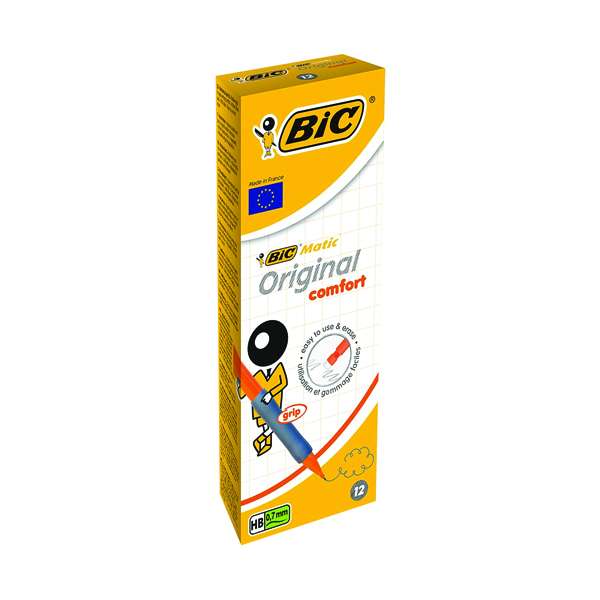 Bic Matic Original Comfort Mechanical Pencil 0.7mm (Pack of 12) 890284