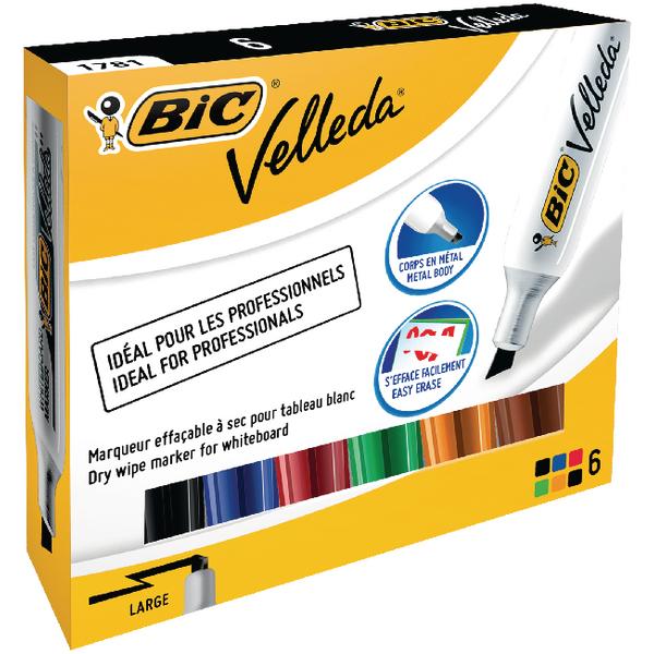 Bic Velleda 1781 Drywipe Assorted Marker 875788