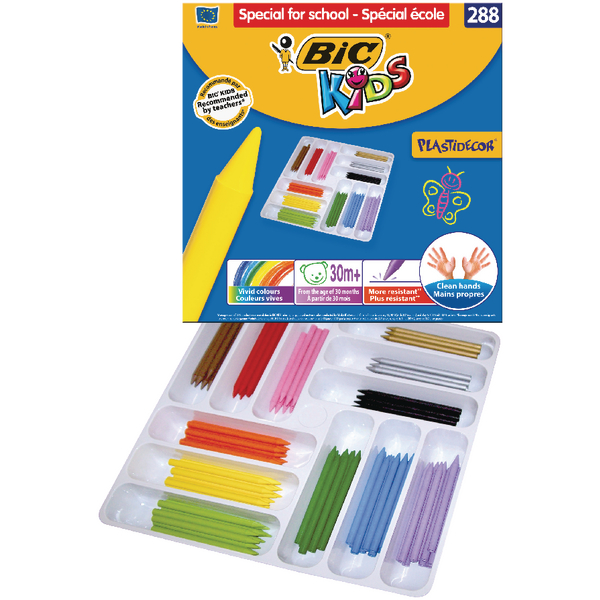 Image for Bic Kids Plastidecor Colouring Crayons Class Pack of 288) 887835