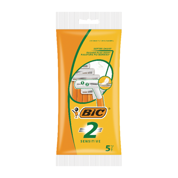 Bic 2 Sensitive Shavers (Pack of 100) 838528