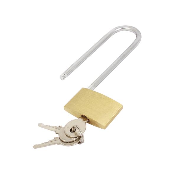 Image for Brass Padlock Long Shackle 041647