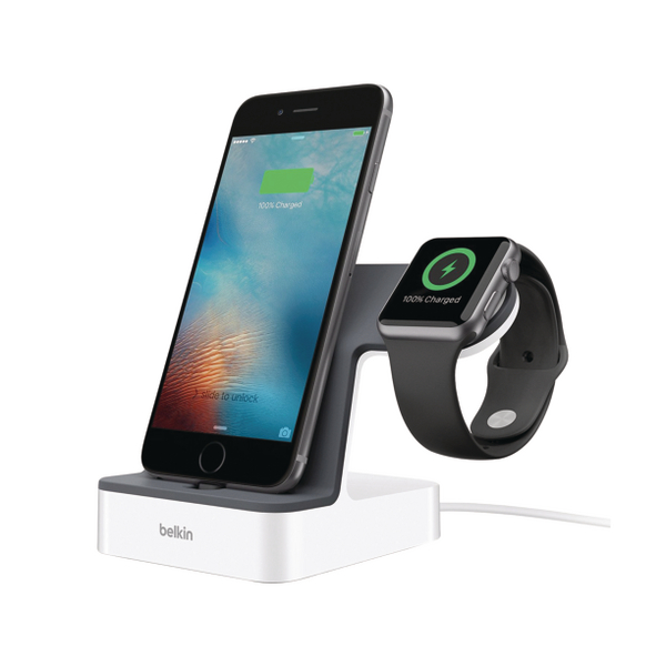 Image for Belkin PowerHouse Charge Dock for Apple Watch and iPhone F8J200VFWHT