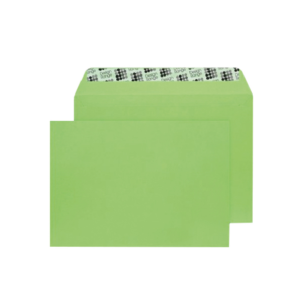 C5 Wallet Envelope Peel and Seal 120gsm Lime Green (Pack of 250) BLK93018