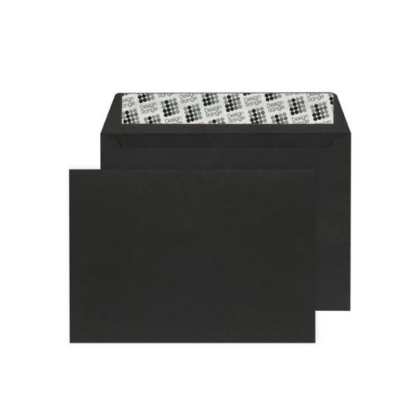 C6 Wallet Envelope Peel and Seal 120gsm Jet Black (Pack of 250)
