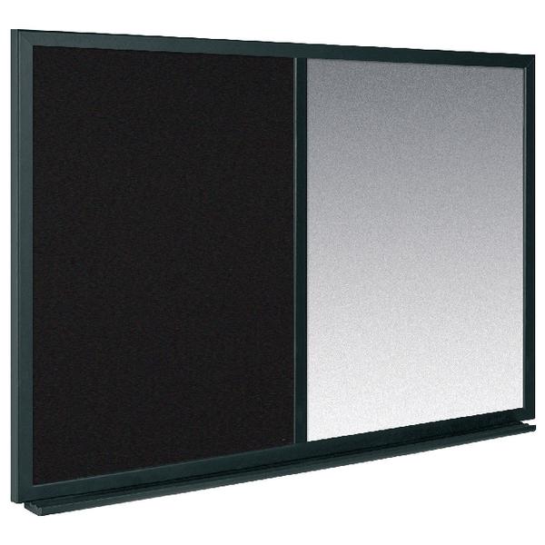 Bi-Office Combo Message Board 600x900mm Black /Silver MX07232169