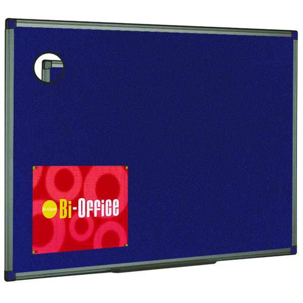 Bi-Office Felt Noticeboard 900x600mm Blue FB0743186