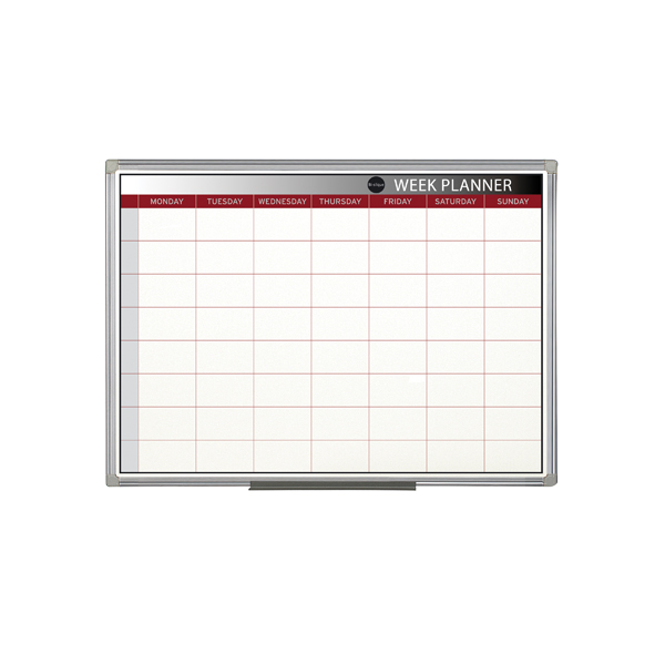 Bi-Office Magnetic Week Planner 900x600mm GA0333170