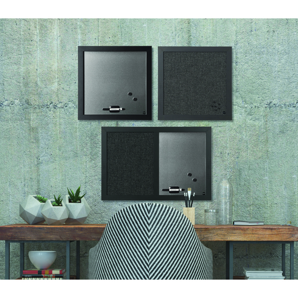 Bi-Office Personal Message Board Set Black Shadow (Pack of 3) SOR034