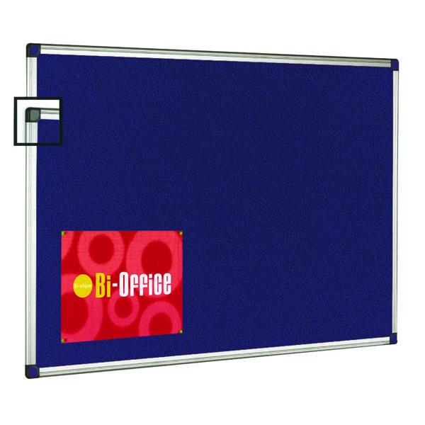 Bi-Office Aluminium Trim Felt Notice Board 1200x900mm FA0543170