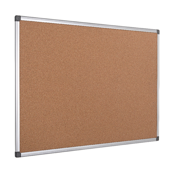 Bi-Office Aluminium Frame Cork Noticeboard 1200x900mm CA051170