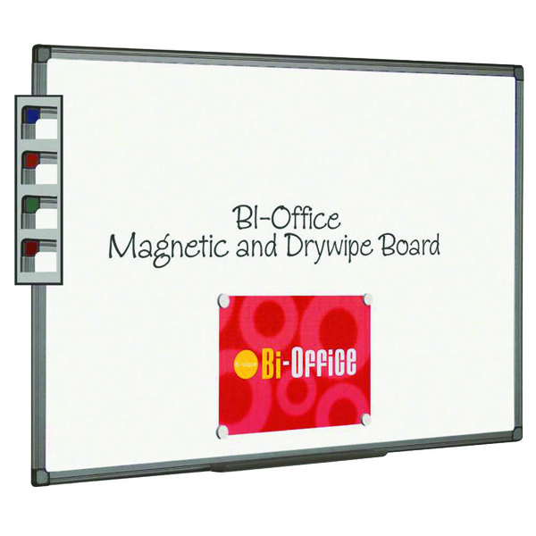 Bi-Office Aluminium Finish Magnetic Whiteboard 1200x900mm MB1406186
